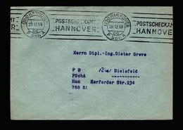 A5687) Bund Postsache-Brief Postscheckamt Hannover 28.12.59 - Briefe U. Dokumente