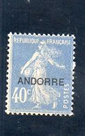 ANDORRE FR. 1931 * - Neufs