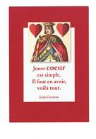 Cpm - Jean Cocteau - Illustration LE ROI DE COEUR - Dessin Carte à Jouer - Cartes à Jouer