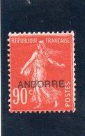 ANDORRE FR. 1931 * - Andorra Francese