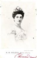 S. M. HELENE, Reine D'ITALIE - Familles Royales