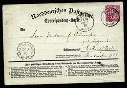 A5689) AD Norddeutscher Postbezirk Karte Berlin 26.07.70 N. Halle - Norddeutscher Postbezirk