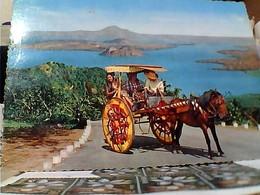 FILIPPINE  PHILIPPINES  TAAL VULCANO CARRETTO   FOLK COSTUMI V1969 GW5339 - Filippine
