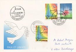 EU278  FDC 1995 EUROPA  Luxembourg (taxé Avec Le Même Timbre Pour Poste Restante) TTB   RR - 1995