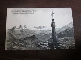 Cpa - Col De La Croix De Fer Aiguilles D'arves  - Savoie 73 - Ougier Roux Lempereur Et Cie Toilerie Lingerie Grenoble - France