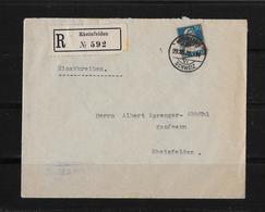 HEIMAT AARGAU → Einschreibe-Brief Rheinfelden 1925 - Schweiz