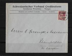 HEIMAT THURGAU → Brief Schw.Verband Creditreform Weinfelden Nach Rheinfelden 1924 - Schweiz
