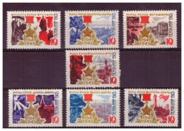 URSS653) 1965-Citta' Martiri -Unificato 3049-55 Serie Cpl. 7 Val.MNH - Nuovi