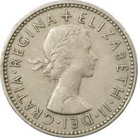 Monnaie, Grande-Bretagne, Elizabeth II, Shilling, 1956, TB+, Copper-nickel - 1902-1971 : Monnaies Post-Victoriennes