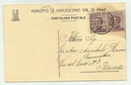 MUNICIPIO DI SAN CASCIANO VAL DI PESA  1927  FP - Firenze
