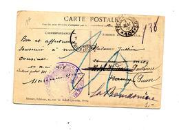 Carte Cachet Tresor Et Postes 101 +regiment De Marche Vue Dechiré Tilloloy - Marcophilie (Lettres)
