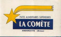 ANDANCETTE « Pâtes Alimentaires LA COMETE » - Buvards, Protège-cahiers Illustrés