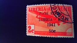 Liberia 1941 Avion Airplane Surchargé Overprint First Flight Liberia - U.S.Yvert PA23 O Used - Liberia