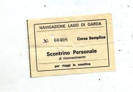 Ticket Navigation Lac De Garde - Europe