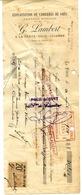77 LA FERTÉ-SOUS-JOUARRE - Exploitation Carrières Grès G. LAMBERT, Travaux Publics, Effet De Commerce 1924 Timbre Fiscal - La Ferte Sous Jouarre