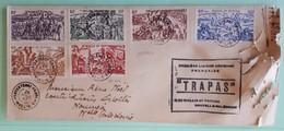 19961# WALLIS ET FUTUNA SERIE TCHAD AU RHIN LETTRE TRAPAS Obl PROTECTORAT FRANCAIS 1947 NOUMEA NOUVELLE CALEDONIE - Covers & Documents