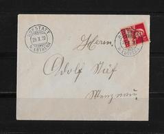 HEIMAT LUZERN → Brief Von Hofstatt Bei Luthern Nach Menznai 1920 - Cartas