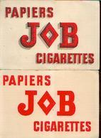 « Papiers JOB Cigarettes» - Lot De 2 Buvards Différents - Buvards, Protège-cahiers Illustrés