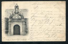 1901 - CARNAC. Porche De L'Eglise .CPA Precurseur - Timbre Et  3 Càd - Carnac