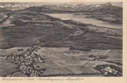 CPA FORSTENRIED PARK PANORAMA, VILLAGE, STARNBERGER LAKE, ALPS - Ohne Zuordnung