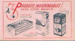 « Produits D'entretien LION BLANC, JAKO, CIF» - Buvards, Protège-cahiers Illustrés