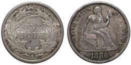1 Dime 1886 S (U.S.A.) Silver - Federal Issues