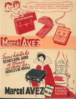 « Articles De Voyage Marcel AVEZ» - Lot De 2 Buvards Différents - Buvards, Protège-cahiers Illustrés