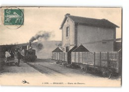 CPA 58 Brassy La Gare De Razou Et Le Train Tramway - Autres Communes