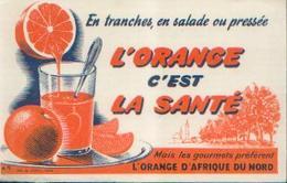 « L'orange D'Afrique Du Nord» - Buvards, Protège-cahiers Illustrés