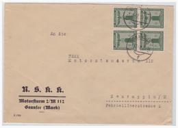 Dt- Reich (003920) Propaganda Brief N.S.K.K. Motorsturm 2/ M 112 Gransee Nach NSKK Neuruppin, Gelaufen 1942 - Deutschland