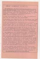 MAI 1968  TRACT DU MOUVEMENT DE COORDINATION DES LUTTES OUVRIERES ET ETUDIANTES / GREVE GENERALE ILLIMITEE  B495 - Documents Historiques