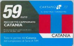 CARTA CARTAPIU' LA7 59 E. CATANIA (NON ATTIVA) (A11.2 - Altre Collezioni