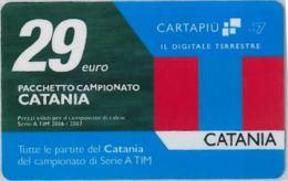 CARTA CARTAPIU' LA7 29 E. CATANIA (NON ATTIVA) (A11.5 - Altre Collezioni