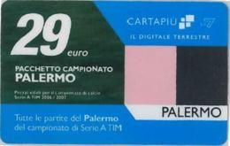 CARTA CARTAPIU' LA7 29 E. PALERMO (NON ATTIVA) (A11.6 - Altre Collezioni