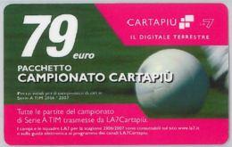 CARTA CARTAPIU' LA7 79 E. PACCHETTO CAMPIONATO (A12.1 - Altre Collezioni