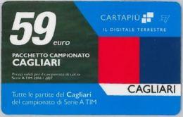 CARTA CARTAPIU' LA7 59 E. CAGLIARI (NON ATTIVA) (A12.3 - Altre Collezioni
