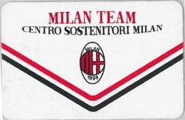 CARTA MILAN TEAM CENTRO SOSTENITORI (A12.8 - Altre Collezioni