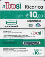 CARTA TOTOSI RICARICA USATA 31/12/2011 10 E. (A13.2 - Altri