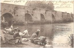 Dépt 78 - LIMAY - Le Vieux Pont - (laveuses, Lavandières) - Cliché A. Bertran, édit. - Mantes - Limay