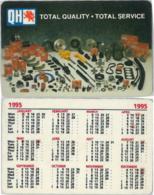 CALENDARIO FORMATO TESSERA 1995 QH (A20.7 - Calendari