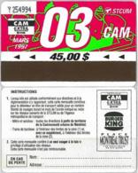ABBONAMENTO MONTREAL CANADA 3/97 (A23.4 - Abonos