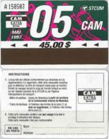 ABBONAMENTO MONTREAL CANADA 5/97 (A23.5 - Abonos