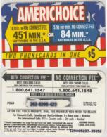PREPAID PHONE CARD AMERICHOICE - USA (A25.7 - Andere