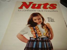 ANCIENNE AFFICHE PUBLICITE BARRE NUTS 1968 - Posters