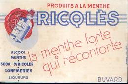 « Praduits à La Menthe RICQLÈS»  Description : Etat Neuf - Buvards, Protège-cahiers Illustrés