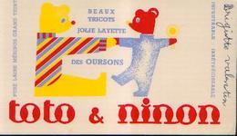 : « Tricots E Layette Des Oursons – TOTO & NINON» - Buvards, Protège-cahiers Illustrés