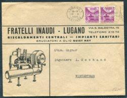 1938 Switzerland Fratelli Inaudi, Lugano Illustrated Advertising Cover - Switzerland