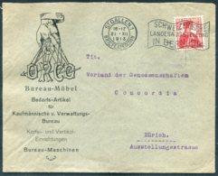 1913 Switzerland St Gallen ORCO Bureau Mobel Illustrated Advertising Cover. 1914 Bern Landesausstellung Slogan - Switzerland