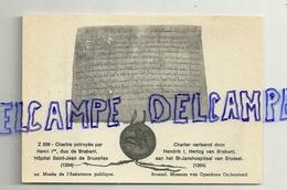 Charte Octroyée Par Henri Ier à L'Hôpital Saint-Jean De Bruxelles (1204) - Vieux Papiers