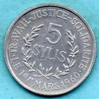 NO/  GUINEE / GUINEA 5 SYLIS 1971 SPL Km#45 - Guinea